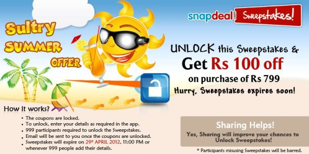 Snapdeal Cashback, Snapdeal Coupons